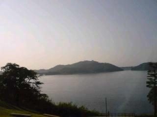 今朝の浜名湖。